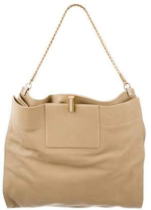 Calvin Klein Collection Grained Leather Satchel