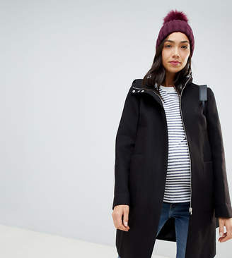 Asos DESIGN Maternity zip through coat with hood