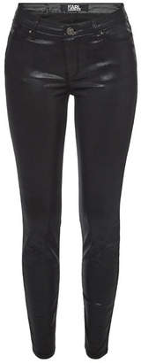 Karl Lagerfeld Coated Skinny Jeans
