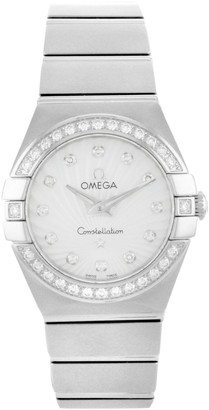 Omega Constellation Silver Steel Watches
