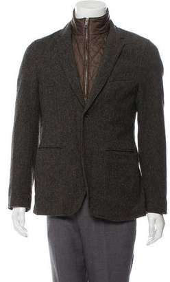 Burberry Check-Lined Wool Jacket