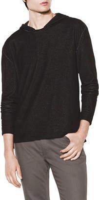 John Varvatos Men's Mercerized Linen Pullover Hoodie