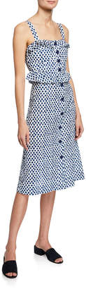 Sea Polka-Dot Sleeveless Corset Dress