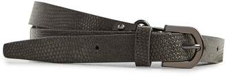 Reiss LILLY SKINNY LEATHER BELT Charcoal