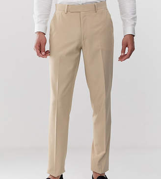Design DESIGN Tall slim suit trousers in camel