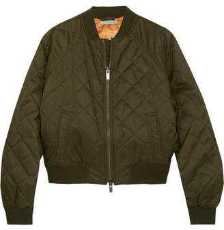 Vince Quilted Shell Bomber Jacket - Army green