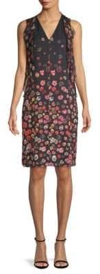 Elie Tahari Jezeble Floral Silk Dress