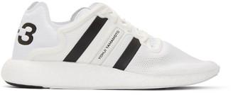 Y-3 White Yohji Run Boost Sneakers $320 thestylecure.com
