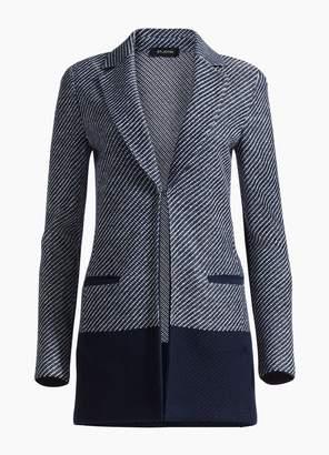 St. John Modern Textured Intarsia Knit Jacket