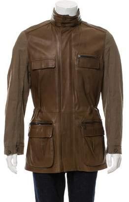 Lanvin Leather Safari Jacket