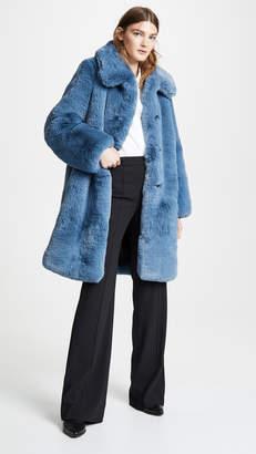Marc Jacobs Plush Faux Fur Coat with Collar