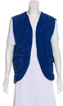 Robert Rodriguez Sequined Open Front Vest