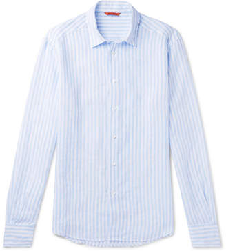 Barena Slim-Fit Striped Slub Linen Shirt