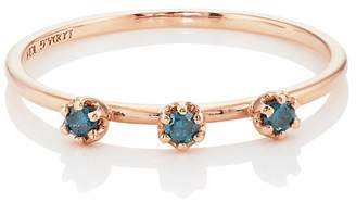 LODAGOLD Women's Blue Diamond Ring