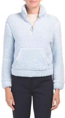 Juniors Half Zip Woobie Pullover Top