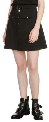 Maje Jibrali Snap Mini Skirt