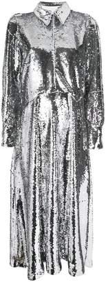 Ganni long sequinned dress