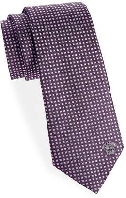 Versace Men's Diamond Silk Tie