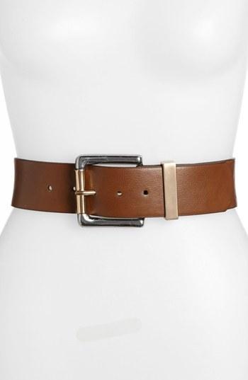 Isaac Mizrahi New York Faux Leather Belt