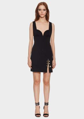 Versace Cut Out Safety Pin Dress