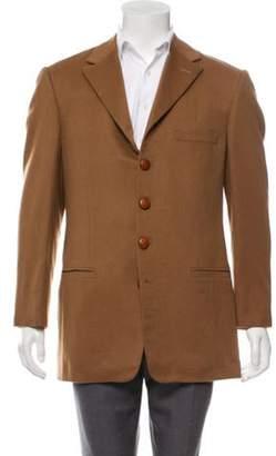 Gianni Versace Wool & Angora Blazer tan Wool & Angora Blazer
