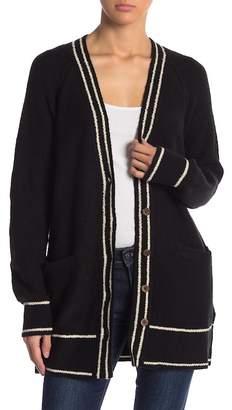 Lucky Brand Stripe V-Neck Cardigan