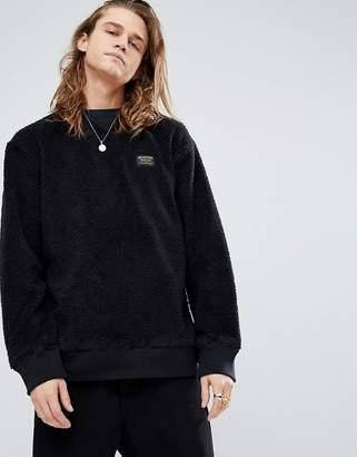 Burton Snowboards Tribute Borg Fleece Sweatshirt In Black