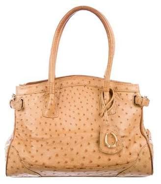 Cece Cord Ostrich Top Handle Bag