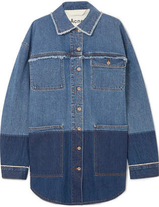 Acne Studios Kanani Oversized Two-tone Denim Jacket - Mid denim