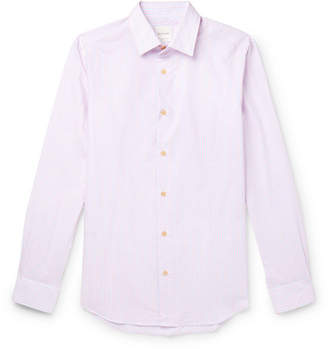 Paul Smith Soho Slim-fit Striped Cotton-poplin Shirt - Pink