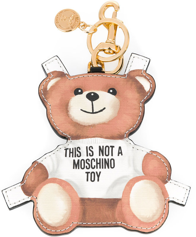 Moschino toy bear paper cut out keyring