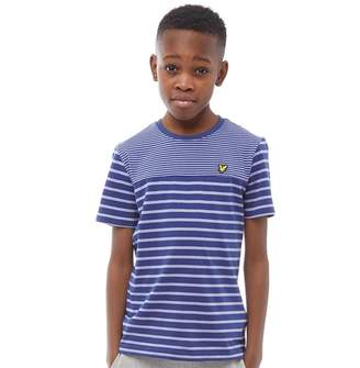 090f43252cf34 Lyle   Scott Junior Boys Breton T-Shirt Twilight Blue