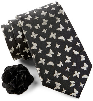 Studio 1735 Silk Butterfly Tie & Lapel Pin Box Set $19.97 thestylecure.com