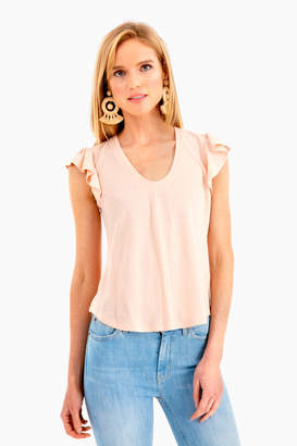 Rebecca Taylor La Vie by Sleeveless Washed Texture Shirt