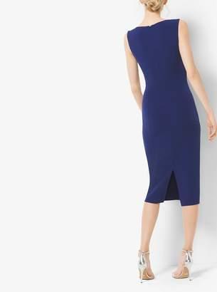 Michael Kors Double-Face Silk and Wool Sheath Dress