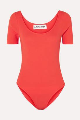 L.F.Markey Connor Ribbed Stretch Cotton-blend Jersey Bodysuit