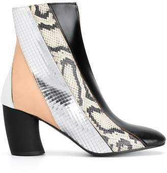 Proenza Schouler striped patterned ankle boots