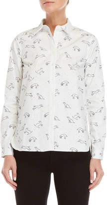 Le Mont St Michel Pup Print Shirt