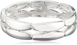 "Michael Kors Napier ""Napier Classics"" -Tone Sectional Stretch Bracelet, 8"""