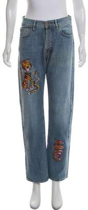 Aries High-Rise Straight-Leg Jeans w/ Tags