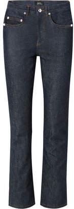 A.P.C. Standard High-rise Straight-leg Jeans - Dark denim