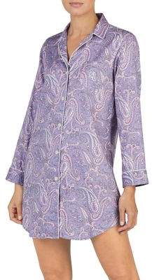 Lauren Ralph Lauren Paisley Long-Sleeve Sleepshirt