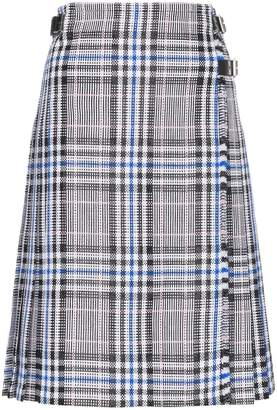 Christopher Kane Cotton pleated check skirt