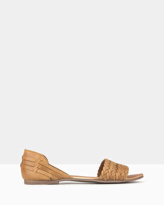betts Fiji Woven Leather D'Orsay Sandals