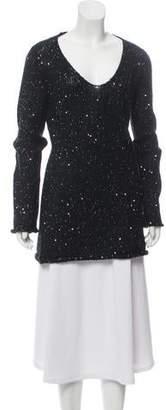 Max Studio Sequined Medium-Weight Sweater