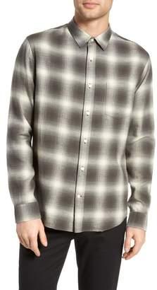 Vince Shadow Plaid Sport Shirt