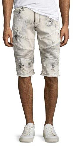 True Religion Geno Moto Distressed Denim Cutoff Shorts, Bronx