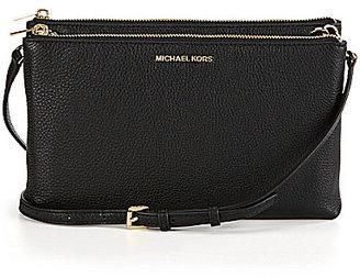 MICHAEL Michael Kors Adele Double-Zip Cross-Body Bag $198 thestylecure.com