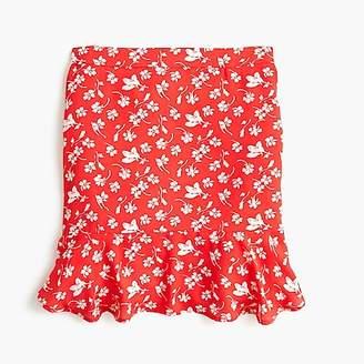J.Crew Ruffle-hem mini skirt