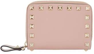 Valentino Rockstud Zip Around Wallet